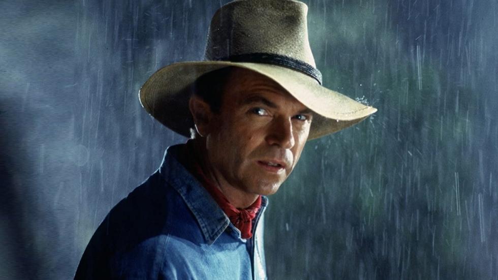 Sam Neill herenigd met 'oude vriend' op eerste opnamedag 'Jurassic World 3'
