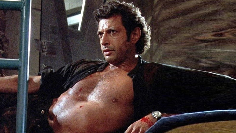 Oe la la! Jeff Goldblum (67) maakt het shirtloze shot uit 'Jurassic Park' na