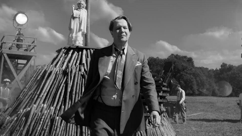 Bijzondere eerste vintage poster voor 'Mank' van David Fincher