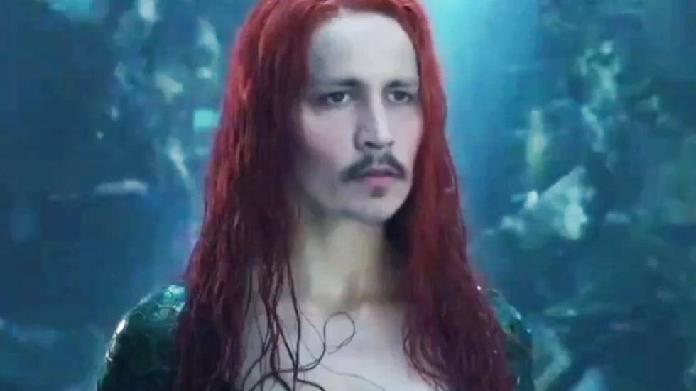Enge deepfake van Johhny Depp als Amber Heard in 'Aquaman'