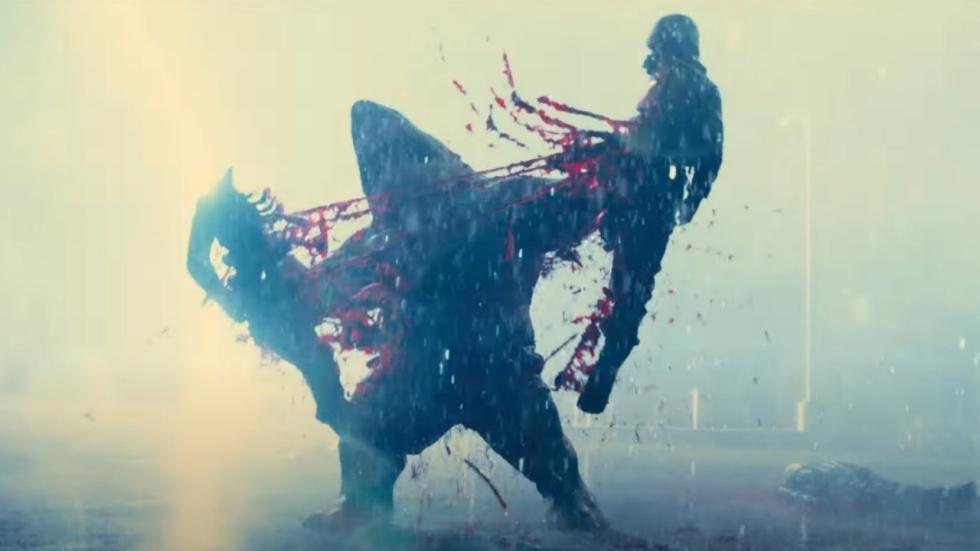 King Shark is in 'The Suicide Squad' enorm schattig, al scheurt hij mensen levend uit elkaar