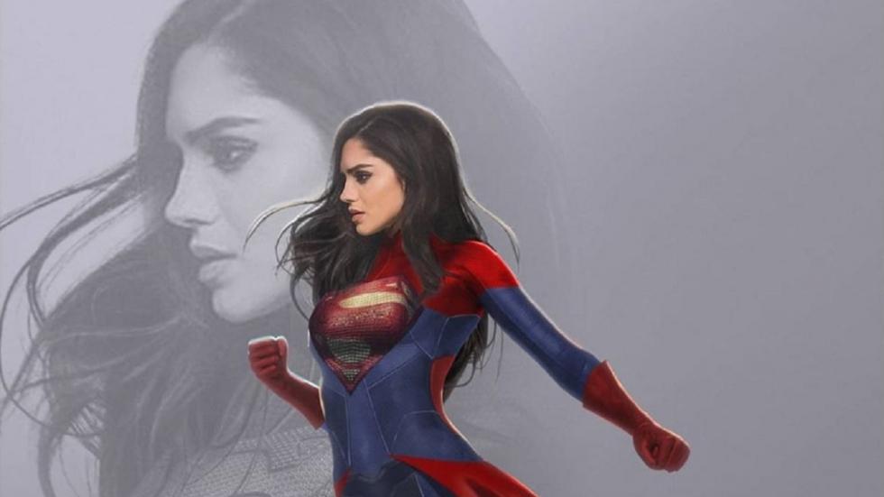 Nieuwe Supergirl vliegend op filmset van 'The Flash'